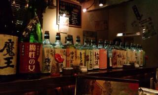 カウンターお酒.JPG